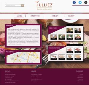 Création du webdesign du site internet d'un charcutier