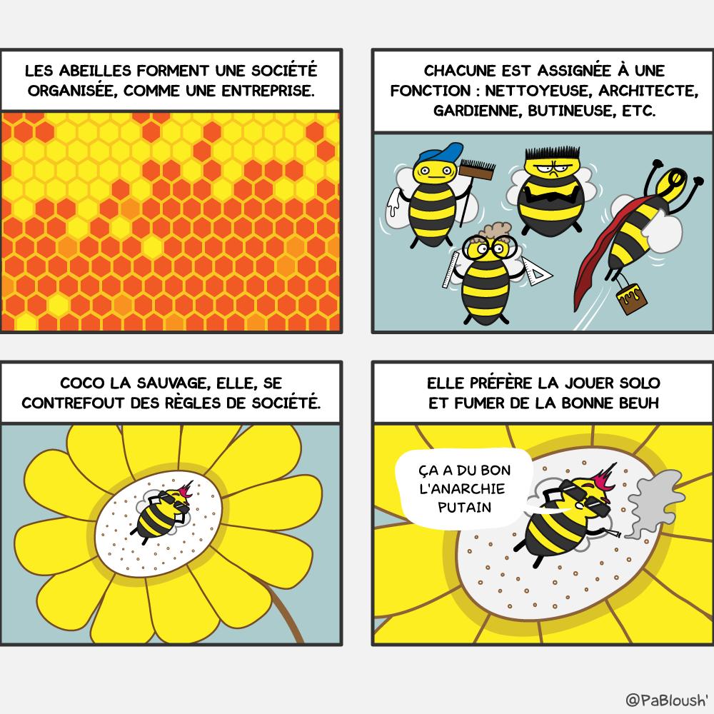 Une bande dessinée sur la vie des abeilles