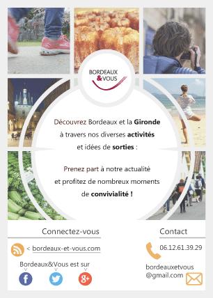 Flyer réalisé pour l'agence de loisirs Bordeaux&Vous