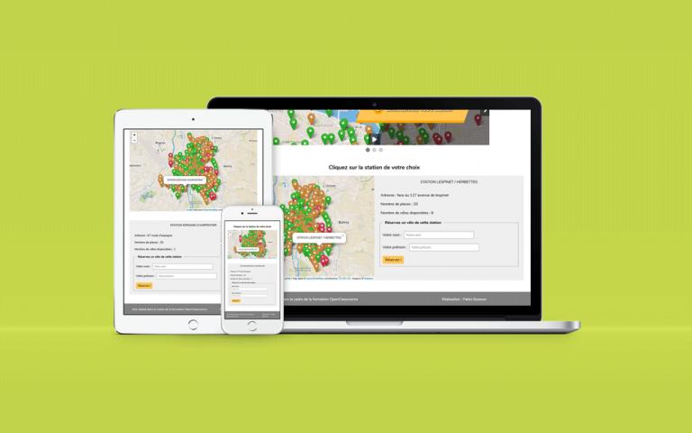Création d'un site interactif de location de vélos