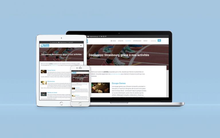 Création du site WordPress de l'Office de Tourisme de Strasbourg