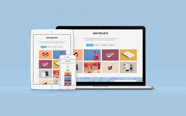 Création du portfolio du site internet d'une agence web