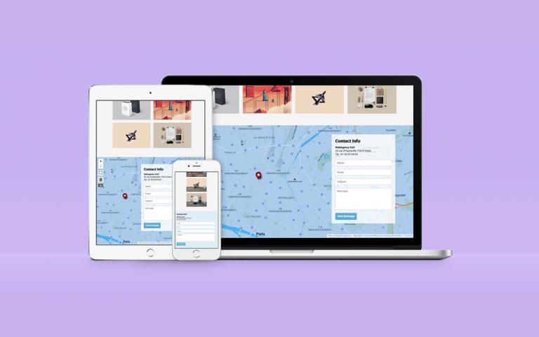 Réalisation d'une carte intéractive sur un site internet d'une agence web