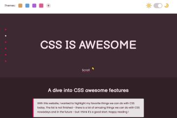 Réalisation d'un site web sur le CSS moderne
